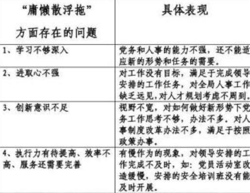 党员个人问题清单及整改措施大全